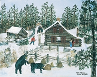 Picture of Snowy Cabin