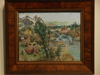 Fishing Camp - Original Will Moses Oil Painting