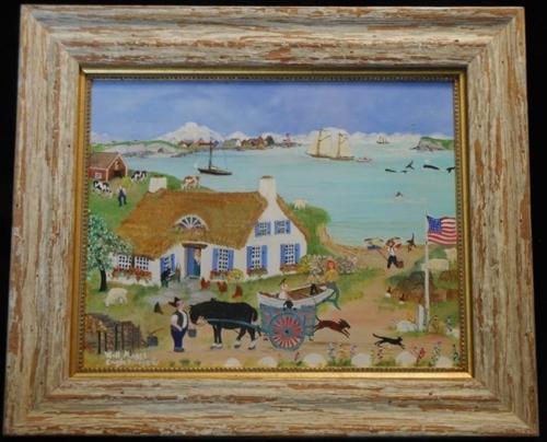 Mermaid Lane - Original Oil Painting
