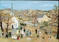 Wedding In The Hills -  Serigraph